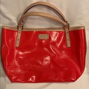 Kate Spade Tote/Shopper/Shoulder Bag. Red and Tan
